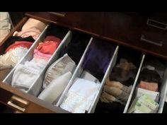 ▶ ORGANIZADOR DE CAJONES FACILISIMO - YouTube Con cartón y palillos de tender