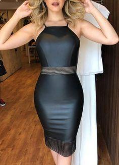 5945263ce Looks De Roupas, Vestido Tubinho, Vestido De Festa, Vestidos Pretos,  Modelos De