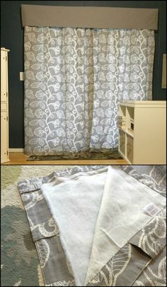 no- sew fleece insulated curtains, a decorating hack | diy- crafts