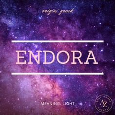 """A Greek baby name meaning """"light,"""" Endora is also a famous character from the show """"Bewitched,"""" as well as a name inspired by """"Star Wars Fantasy Kingdom Names, Fantasy City Names, Pretty Names, Pretty Words, Cool Words, Unusual Words, Rare Words, Star Wars Baby, Moon Names"""