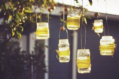 This is my patio lighting! I will be collecting jars just for this purpose! LOVE IT!