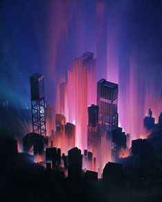 IMAGINARY CITY, beeple . on ArtStation at https://www.artstation.com/artwork/m2L0y