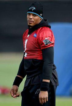 Cam Newton looks on during practice at San Jose University 2/3/16