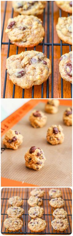 My favorite oatmeal raisin cookie recipe filled with chocolate covered raisins. Plus, learn how to make them extra thick and soft!