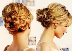updo - pinned this before, but if the braid thing doesn't work out, this is an idea, or this with a braid... hmmm