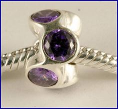 Sterling Silver Charm set with created Amethyst SG13  CHARM FASHION  JEWELLERY, FROM JEWELLERYAUCTIONS.COM