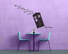 Doctor Who Quote - We're All Just Stories in the End - No 1 - Removable Vinyl Wall Decal Sticker