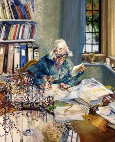 Dorothy Hodgkin By Maggi Hambling 1985 National Portrait Gallery, London. Hodgkin was the first British woman to be awarded a Nobel Prize in Science (Nobel Prize in Chemistry in 1964 for determining the structure of vitamin Maggi Hambling, Science Gallery, Nobel Prize In Chemistry, Science Icons, Science Art, Discovery Museum, Art Society, Portraits, Portrait Paintings