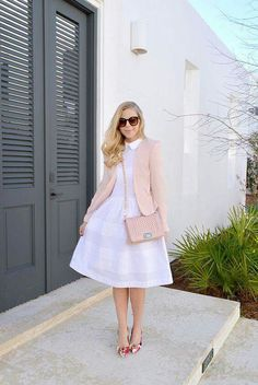 The cutest white dresses with a collar - Outfits & Styles - Modest Fashion Jw Fashion, Modest Fashion, Latest Fashion For Women, Fashion Dresses, Womens Fashion, Fashion News, Classy Fashion, Fashion Online, Modest Dresses