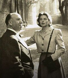 Alfred Hitchcock & Ingrid Bergman, 1948