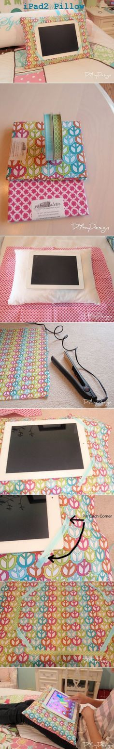 DIY iPad Pillow Tutorial. DIY by Design. I was just thinking about making one of these!! Seems like the best pillow