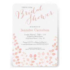 Modern Botanical Bridal Shower Invitation.