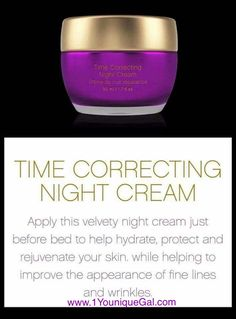 ~Night Time Correction Cream From the Royalty Skin Care Collection Line. Available September 15, 2017 http://www.1YouniqueGal.com
