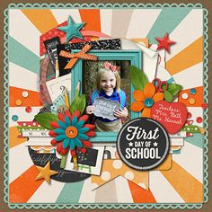 Life Stories: School by Kristin Cronin-Barrow & Zoe Pearn Cindy's Layered Templates - Set 172 by Cindy Schneider