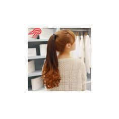 Ponytail - Gradient & Wavy (55 MYR) ❤ liked on Polyvore featuring accessories, hair accessories ve wig