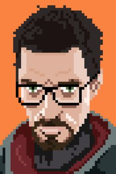 Gordon Freeman 8-bit - artist unknown