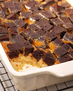 Chocolate Caramel Bread Pudding - Martha Stewart Recipes http://www.marthastewart.com/317884/chocolate-caramel-bread-pudding