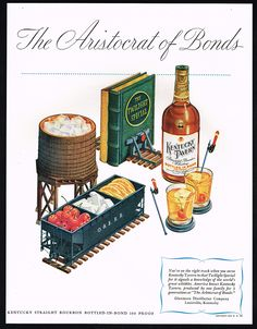 1947 Kentucky Tavern Bourbon Whiskey Railroad Train Theme Print Ad | eBay