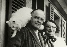 Paul Klee with his cat, Bimbo