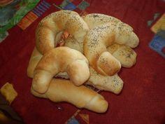 0955. bílé péřové rohlíky od jakubi - recept pro domácí pekárnu Bagel, Food Ideas, Bread, Brot, Baking, Breads, Buns