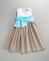 Elegant color block  David Charles Draped-Bowl Colourblock #Dress