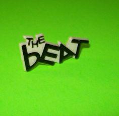 Original 1980s Badge The English Beat Ska 2 Tone Music Button Pinback UNCOMMON
