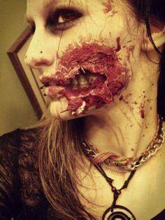 Zombie makeup fisherman show #sfx #halloween #gore #makeup