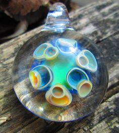 dot stack boro glass pendant made by me, Doug Prell