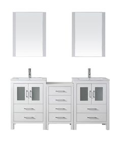 66 inch double vanity. Virtu USA Dior 66  Double Square Sink White Top Vanity in with Brushed Nickel inch double vanity Google Search Wilton Bathrooms