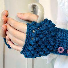 Cold hands? Why not crochet some fingerless gloves!