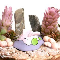 Sleepy little slimeball >v< _______ #goomy #diorama #shark-snail #pokemon Snail, Etsy, Dioramas, Pokemon Images, Miniature, Craft Gifts, Nice Asses, Slug