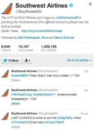 Southwest Airlines Is Flying High on Twitter