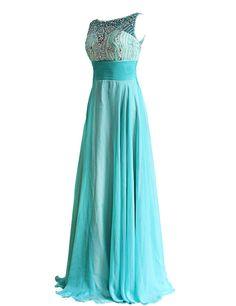Dressystar Damen Lange Abendkleider Chiffon Ballkleider Abschlussballkleider mit Strasssteinen: Amazon.de: Bekleidung