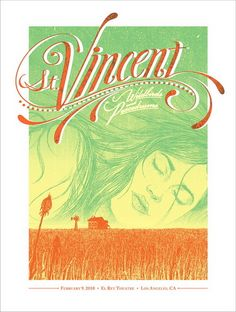 St. Vincent Concert Poster By Kevin Tong