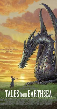 from Earthsea It's one of those Ghibli movies everyone forgets but it's super well done and a beautiful story.Tales from Earthsea It's one of those Ghibli movies everyone forgets but it's super well done and a beautiful story. A Wizard Of Earthsea, Tales From Earthsea, Studio Ghibli Poster, Studio Ghibli Movies, Hayao Miyazaki, George Rr Martin, Another Anime, Howls Moving Castle, Anime Films