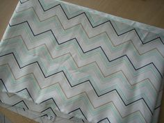 destash sale - blue and taupe chevron ashbury heights - FREE SHIPPING by SillyMamaQuilts on Etsy