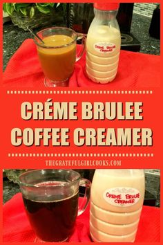 french vanilla creamer recipe It's SO EASY to make yummy Crme Brulee Coffee Creamer from scratch, in 10 minutes, using only 4 ingredients! A great addition to morning coffe Vanilla Coffee Creamer, French Vanilla Creamer, Homemade Coffee Creamer, Coffee Creamer Recipe, Healthy Coffee Creamer, Pumpkin Spice Coffee, Spiced Coffee, Girl Cooking, Creme Brulee