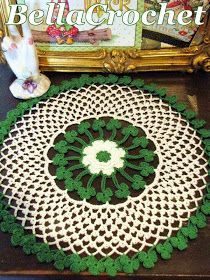 Today I have a special doily pattern for you. I want to thank Debbie Boivin Kos, who suggested I make ashamrockdoily, and  Deborah M...