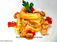 Linguine con pesce spada alla siciliana