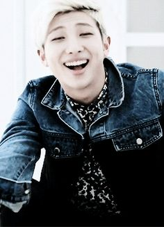 Rap Monster what are you even doing?  I just love the way his eyes get wider without actually getting any wider.