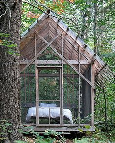 weekend sleeping cabin @ about $700! Two of these and a common Kitchen/Bath facility and, voila, the Harris Family Weekend Getaway Camp is created!