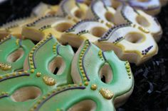 Mardi Gras Cookies Favors mask cookie favors by 4theloveofcookies
