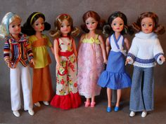My Vintage Sindy Dolls & Outfits From 1974 - From my own collection: 1974 Fashion, Fashion Dolls, Vintage Fashion, Sindy Doll, Blythe Dolls, Doll Toys, Vintage Girls, Vintage Barbie, Vintage Toys