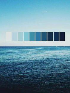 Degradacion en Azul...