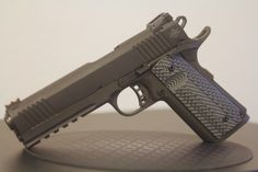 """Rock Island Armory 2011 Tactical VZ Grip """"Bang"""" for your Bucks! I would like to get a Kimber, but too much buckaroos, RIA can remedy my need for a Home Defense, Self Defense, Rock Island Armory 1911, Concealed Carry Weapons, Guns Dont Kill People, 1911 Pistol, Tactical Belt, Tac Gear, Military Guns"""