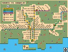 The TTC route map gets the 8-bit treatment  Posted by Derek Flack