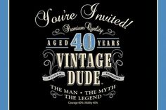 Does your guy have a milestone birthday coming up? Throw him a Vintage Dude party!