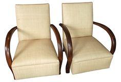 Loop Armchairs in Raffia,  Pair on OneKingsLane.com