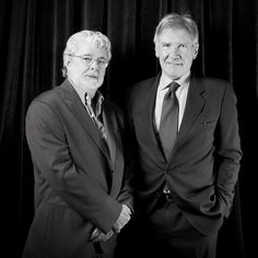 George Lucas and Harrison Ford at SFIFF56. Photo by Pamela Gentile.