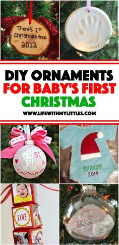 7 simple diy ornaments for babys first christmas pinterest babys first christmas ornaments you can make yourself solutioingenieria Gallery
